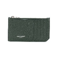 Saint Laurent Fragment zipped cardholder - グリーン