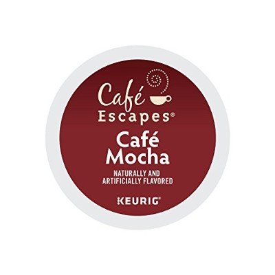 Cafテδゥ Escapes Cafテδゥ Mocha, K-Cup Portion Pack for Keurig Brewers, 24-Count by Cafテδゥ Escapes