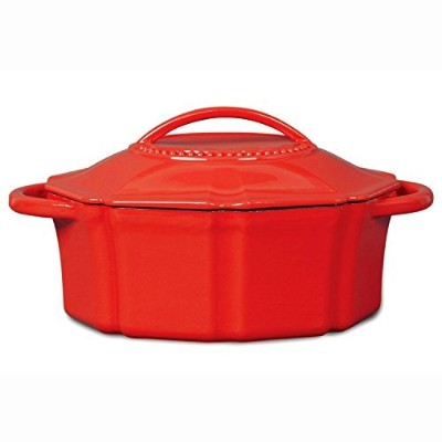 Isaac Mizrahi 6 qt Cast Iron Dutch Oven with Lid - Red by Isaac Mizrahi