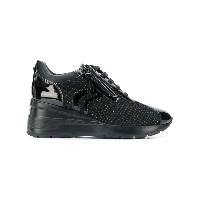 Geox woven lace-up sneakers - ブラック