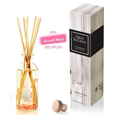 Urban Naturals旅行コレクションの香りホームAmbiance Reed Diffuser Giftセット UN-Diffuser-PINKPETALS