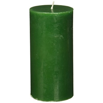 Zest Candle Pillar Candle, 7.6cm by 15cm , Hunter Green