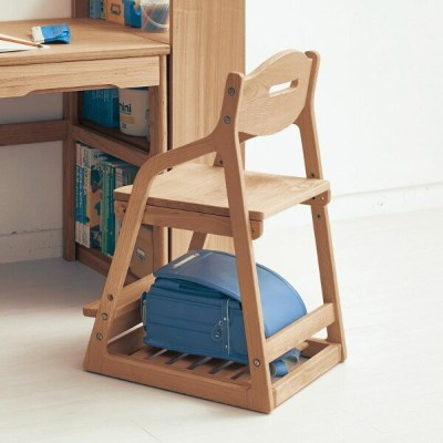 【BELLE MAISON】ベルメゾン タモ材の座面可動式チェア ◇ 家具 収納 子ども 子供 キッズ 学習 机 椅子 いす BELLE MAISON DAYS ◇