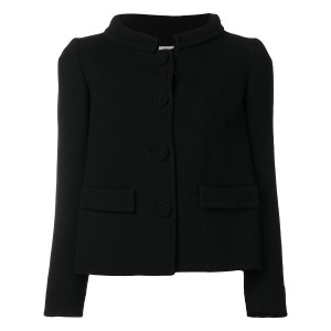L'Autre Chose high collar fitted jacket - ブラック
