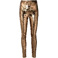 Tom Ford sequinned skinny trousers - メタリック