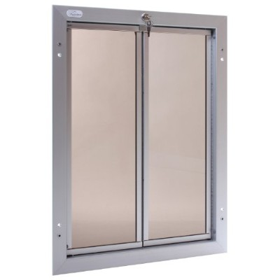 PlexiDor Performance Pet Doors X-Large Silver Door Mount by PlexiDor Performance Pet Doors