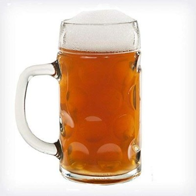 (1) - Lily's Home 1 Litre Dimpled Glass Beer Stein (1)