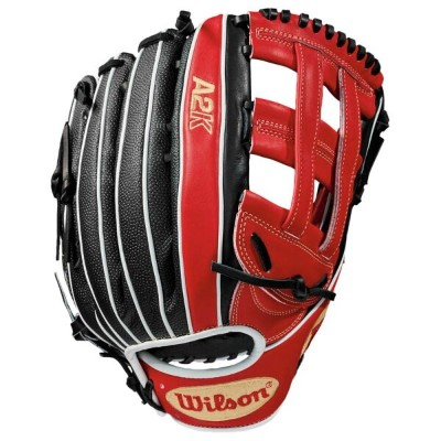 ウィルソン Wilson メンズ 野球 グローブ【A2K 1799MB Fielder's Glove】Red/Black/White