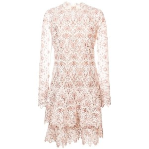 Jonathan Simkhai lace cut-out ruffled dress - ホワイト