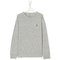 Ralph Lauren Kids logo patch sweatshirt - グレー