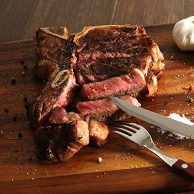 Lーボーンステーキ アメリカン・ビーフ(600G) L-Bone Steak US Choice American Beef 600g (WHOLE MEAT)