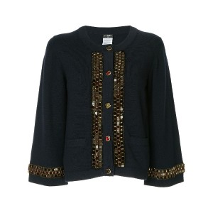 Chanel Vintage Long Sleeve Cardigan - ブルー