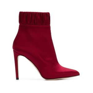 Chloe Gosselin gathered ankle boots - レッド
