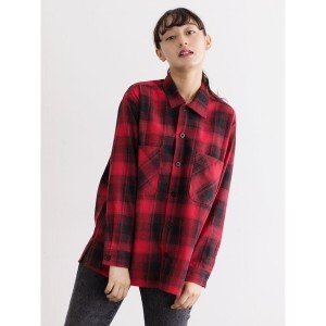 【SALE 30%OFF】イーハイフンワールドギャラリー E hyphen world gallery UNIVERSAL OVERALL OMBRE SHIRT (Red)