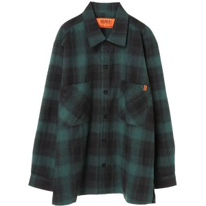 【SALE 30%OFF】イーハイフンワールドギャラリー E hyphen world gallery UNIVERSAL OVERALL OMBRE SHIRT (Green)