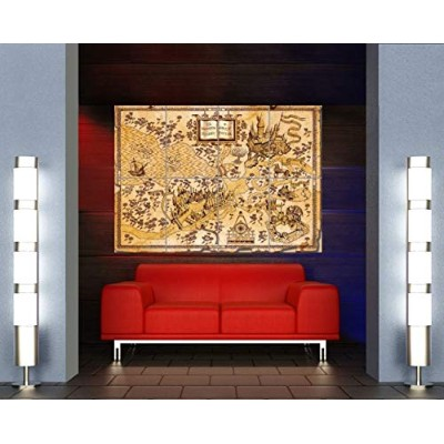 HARRY POTTER WIZARDING WORLD MAP GIANT POSTER X3197