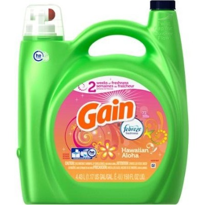 Gain HEC with Febreze FreshnessハワイアンAloha Liquid Laundry Detergent (1, 150 fl oz)