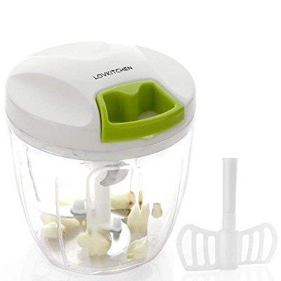 LOVKITCHEN Manual Food Chopper Compact and Powerful Hand Held Vegetable Chopper/Mincer/Blender to...