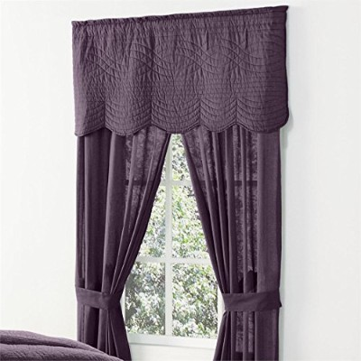 (Plum) - Brylanehome Florence Rod Pocket Panel, 84 & Quot;X84 & Quot, Pair