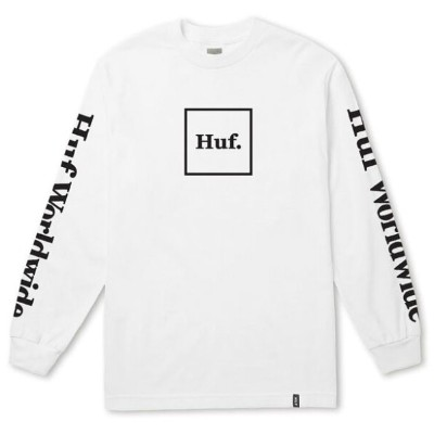 HUF Domestic L/S T-Shirt White M Tシャツ 送料無料