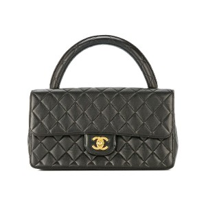 Chanel Vintage Quilted Hand Bag - ブラック