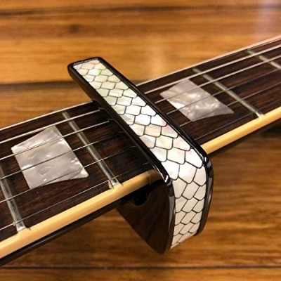 Thalia Capo タリアカポ カポタスト Black Chrome with Mother of Pearl Dragon Scales Inlay