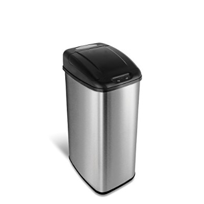 Nine Stars DZT-50-6 Infrared Touchless Stainless Steel Trash Can, 13.2-Gallon by Ninestars [並行輸入品]