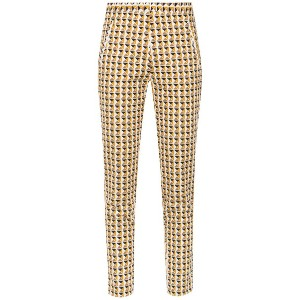 Andrea Marques printed skinny trousers - ホワイト