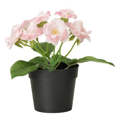 Ikea Fejka Artificial Potted Plant Small Pink Rose Plant 18cm Tall 3 1/2 Pot Diameter
