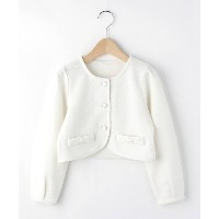 【3can4on(Kids)(サンカンシオン(キッズ))】 ボレロジャケット OUTLET > アウター > その他 ホワイト系