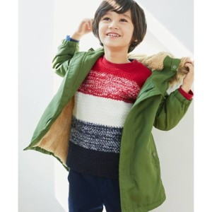 【THE SHOP TK(Kids)(ザ ショップ ティーケー(キッズ))】 裏ボアコート OUTLET > アウター > その他 カーキ
