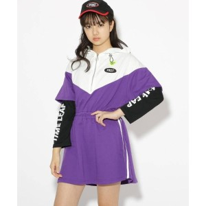 【PINK-latte(ピンク ラテ)】 ★ニコラ掲載★切替スポ ワンピース OUTLET > ワンピース > ミニワンピース ロイヤルパープル
