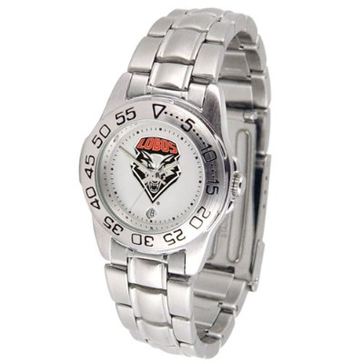 New Mexico Lobos GamedayスポーツLadies ' Watch with aメタルバンド