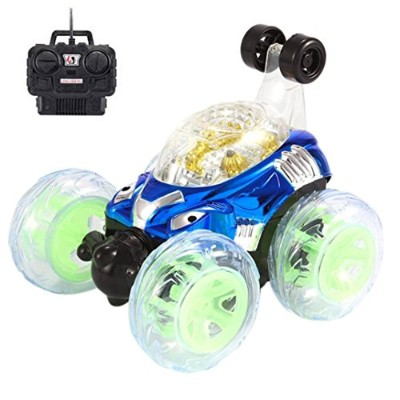 Aojian 360° Spinning、反転withカラーフラッシュ&音楽for Kids Remote Control Truck ベージュ