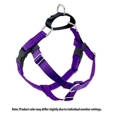 Freedom No-Pull Harness 5/8 Inch Width Small Purple by Wiggles Wags Whiskers
