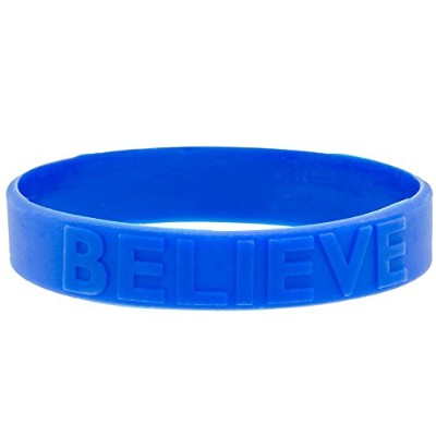 (25 Pack) - Blue Believe Rubber Silicone Bracelet