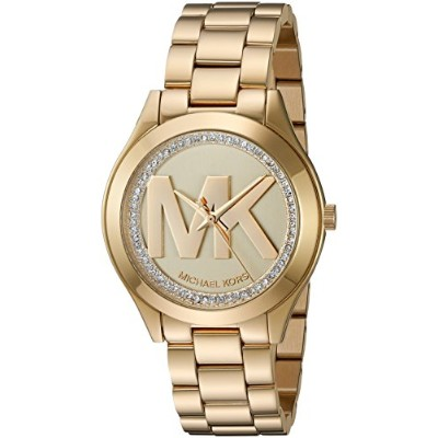 Michael Kors (マイケルコース) レディースMini Slim RunwayゴールドトーンThree Hand Watch None