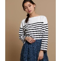 【anatelier(アナトリエ)】 ORCIVAL ボーダーカットソー トップス > カットソー ブラック