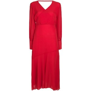 Federica Tosi belted wrap dress - レッド