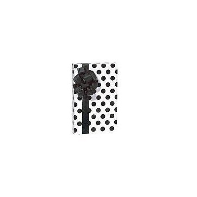 Trendy Brand New Polka Dot White & Black Gift Wrap Wrapping Paper Roll 16 Foot by Buttons Bags and...