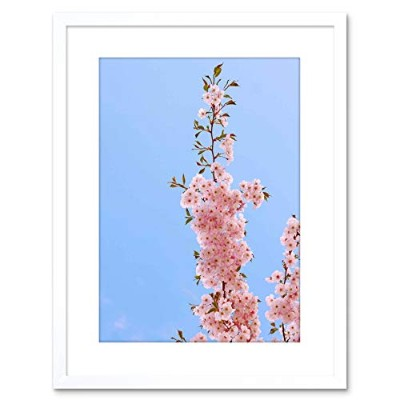 Photo Hanging Pink Cherry Bloom Blossom Framed Wall Art Print