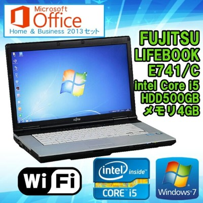 Microsoft Office Home & Business 2013 セット 【中古】 ノートパソコン 富士通(FUJITSU) LIFEBOOK E741/C Windows7 15...