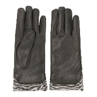 Fabiana Filippi metallic trim gloves - ブラック