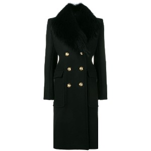 Alexandre Vauthier double-breasted coat - ブラック
