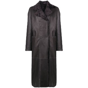 S.W.O.R.D 6.6.44 reversible double-breasted coat - グレー