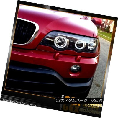 ヘッドライト New 2000-2003 BMW X5 E53 AngelEye Halo Projector Black LED Headlights Headlamp New 2000-2003...