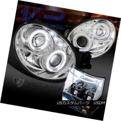ヘッドライト For 02-03 Subaru Impreza WRX Halo LED Projector Headlights+H1 Halogen Bulbs 02-03スバルインプレッサWRX...