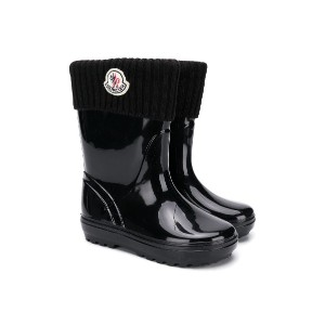 Moncler Kids ribbed cuff wellies - Unavailable