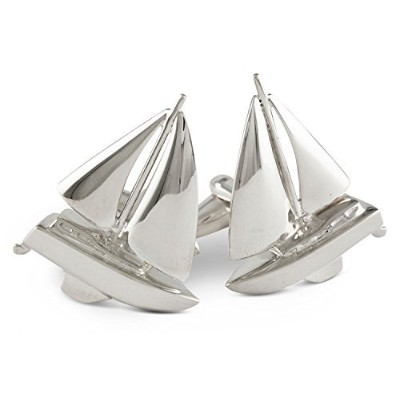 Zaunick Sailboat Cufflinksスターリングシルバー