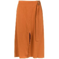 Alcaçuz Famoso flared skirt - ブラウン